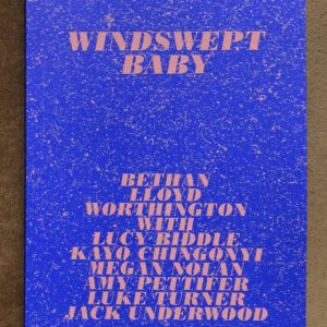 Windswept Baby Book Bethan Lloyd Worthington Lucy Biddle Kayo Chingonyi Megan Nolan Amy Pettifer Luke Turner Jack Underwood